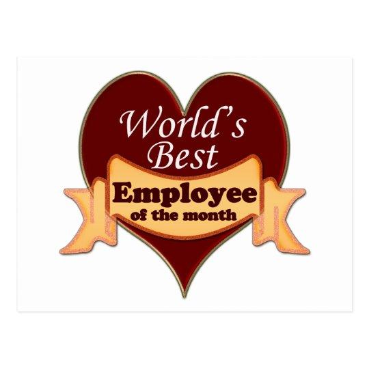 Postal El mejor empleado del mundo del mes