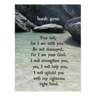 Postal El miedo del 41:10 de Isaías no, porque yo estamos