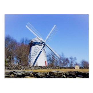 Postal El molino de viento de Jamestown construyó en 1789