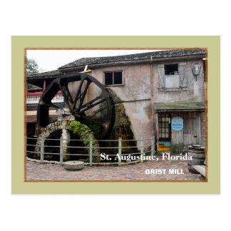 Postal El molino viejo del grano para moler en St