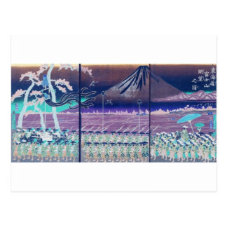 Postal El monte Fuji circa 1860's. Japón