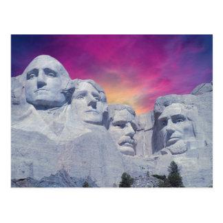 Postal El monte Rushmore, presidentes de Dakota del Sur,