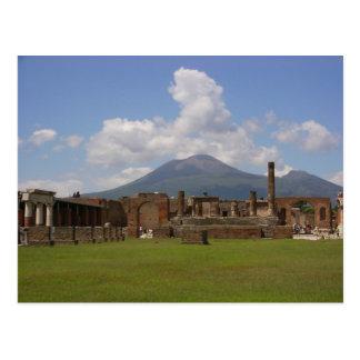Postal El monte Vesubio, Pompeya