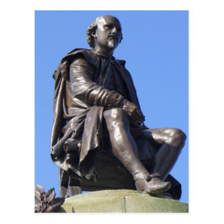 Postal El monumento de Gower a William Shakespeare