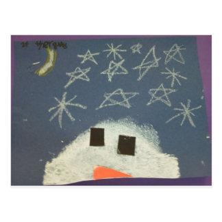Postal El muñeco de nieve de Tyler