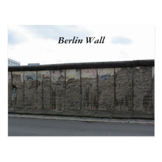 Postal El muro de Berlín