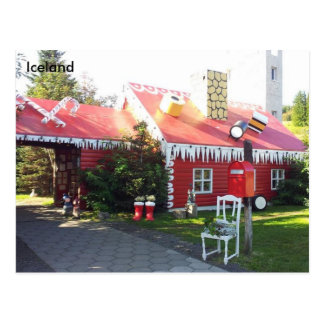 Postal El navidad contiene cerca de Akureyri, Islandia