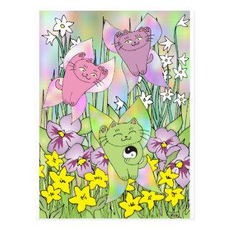 Postal El Nekos de hadas de la primavera