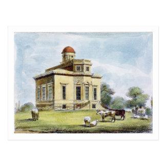 Postal El observatorio, Richmond cultiva un huerto,