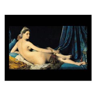 Postal El Odalisque magnífico Jean 1814 Auguste Dominique