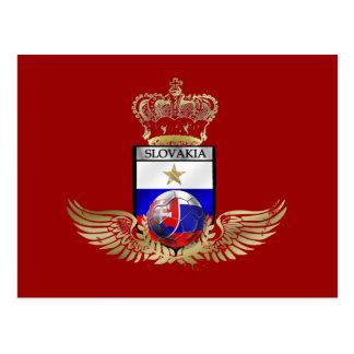 Postal El oro muy elegante se fue volando la bandera de