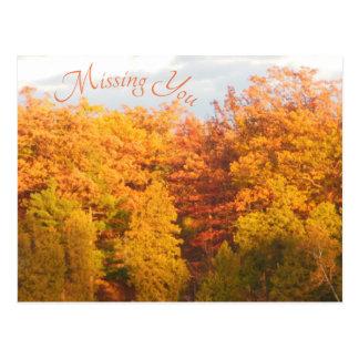 Postal El otoño se arrastra faltándole