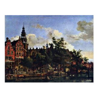 Postal El Oudezijds Voorburgwal y el Oude Kerk en el AMS