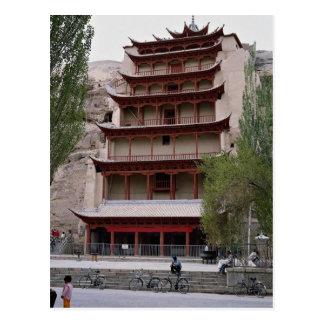 Postal El pabellón que contiene al gran Buda, Mogao