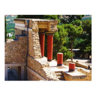 Postal El palacio de Minoan de la imagen de Knossos