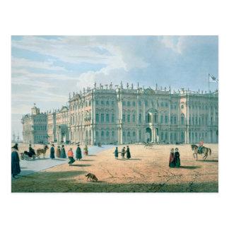 Postal El palacio del invierno según lo visto de paso del