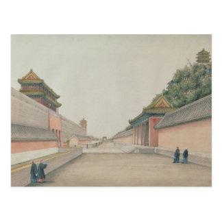 Postal El palacio imperial en Pekín