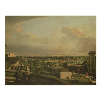 Postal El palacio y el jardín, Viena, 1759/60 de Kaunitz
