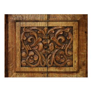 Postal el panel de madera