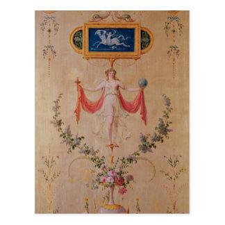 Postal El panel del gabinete de señora de Marie-Antonieta