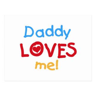 Postal El papá de los colores primarios me ama las