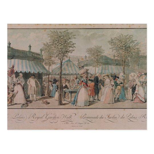 Postal El paseo del jardín del Palais Royal, 1787