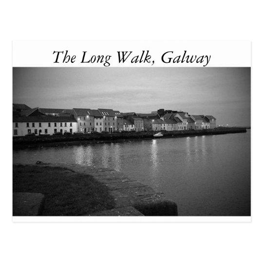 Postal El paseo largo, Galway
