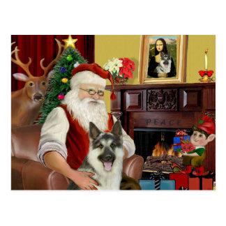 Postal El pastor alemán #9 de Santa