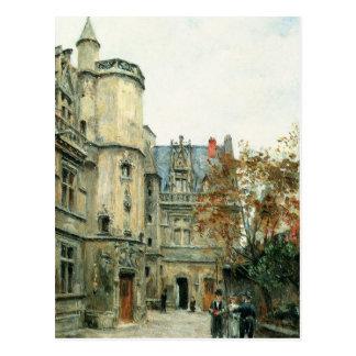 Postal El patio del museo de Cluny, c.1878-80