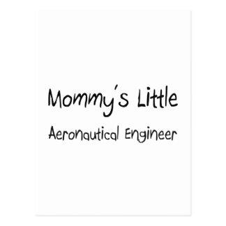Postal El pequeño ingeniero aeronáutico de la mamá