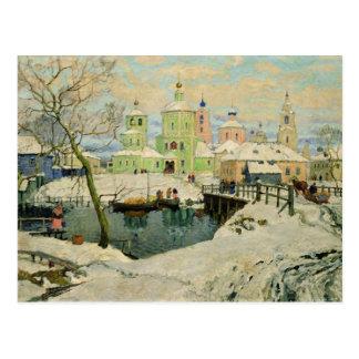 Postal El pequeño pueblo Torzhok, 1917