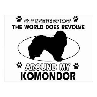 Postal El perro gira alrededor de mi KOMONDOR
