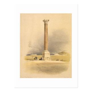 """Postal El pilar de Pompey, Alexandría, de """"Egipto y de"""