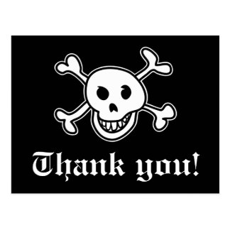 Postal El pirata le agradece cardar por fiesta de