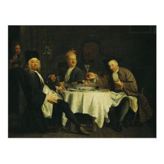 Postal El poeta Alexis Piron en la tabla