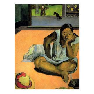 Postal El poner mala cara o silencio - Paul Gauguin