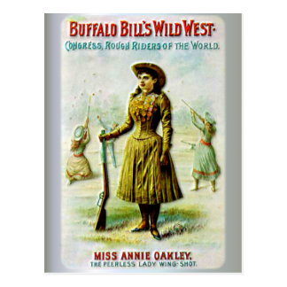 Postal El poster del oeste salvaje Annie Oakley de