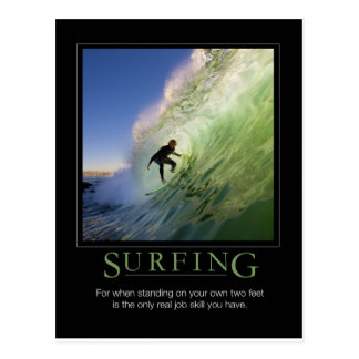 Postal El practicar surf