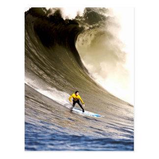 Postal El practicar surf a la meta y al éxito