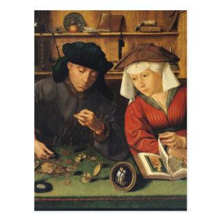 Postal El prestamista de dinero y su esposa, 1514
