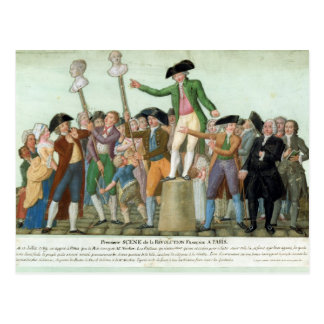 Postal El principio de la Revolución Francesa