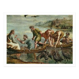 Postal El proyecto milagroso de los pescados (dibujo