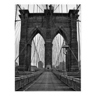Postal El puente de Brooklyn en New York City