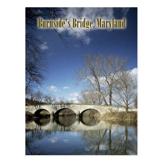 Postal El puente de Burnside, campo de batalla del