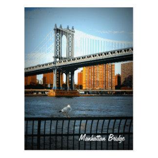 Postal El puente de Manhattan