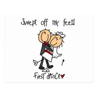Postal El recién casado primero baila las camisetas y los