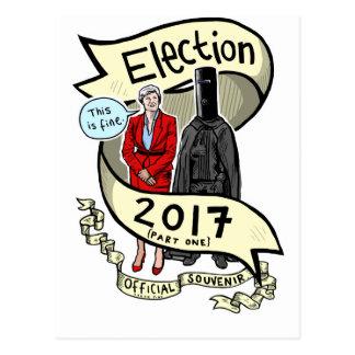 Postal El recuerdo rosado oficial 2017 de la elección de