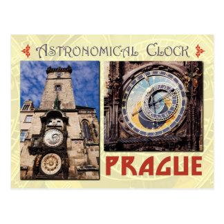 Postal El reloj astronómico de Praga, República Checa