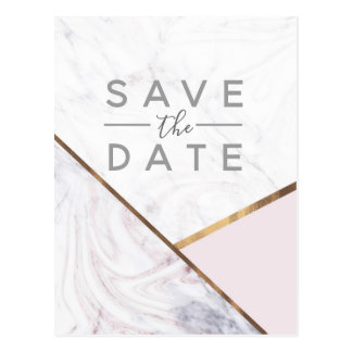 Postal El remolino color de rosa del mármol del oro y se