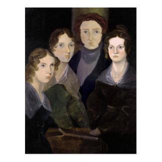 Postal El retrato restaurado ~ del pilar de Brontës